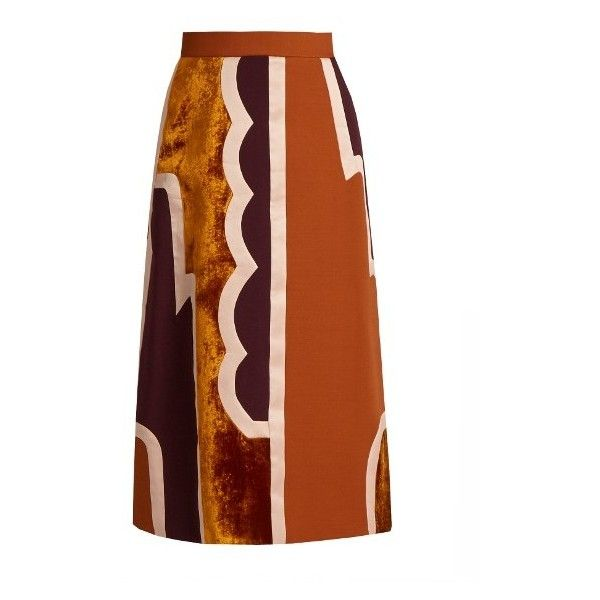 Roksanda Takuya patchwork skirt ($1,724) ❤ liked on Polyvore featuring  skirts, pink multi