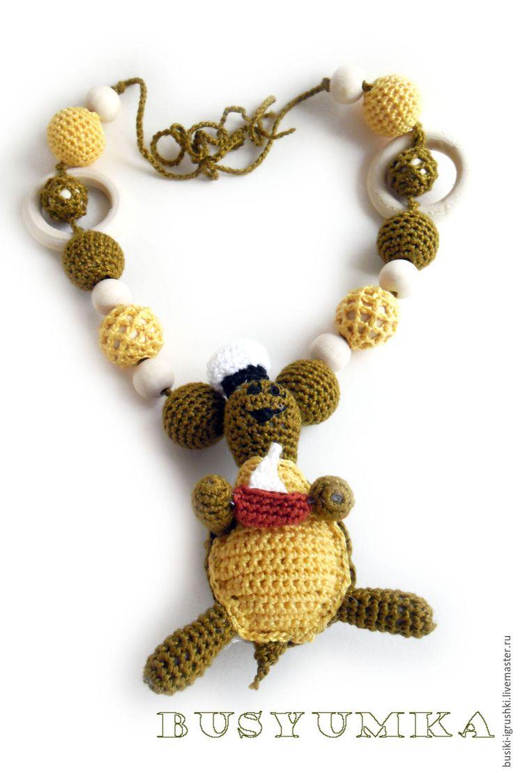 """Купить Слингобусы с игрушкой """"Черепашка"""" - слингобусы, слингобусы мамабусы, слингобусы крючком, оливковый, слингобусы с игрушкой"""