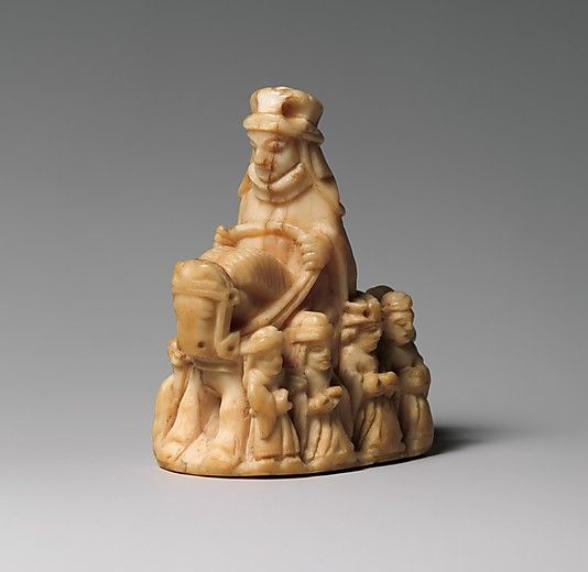 Chess Piece in the Form of a Queen, 13th century, Scandinavian, whale ivory.