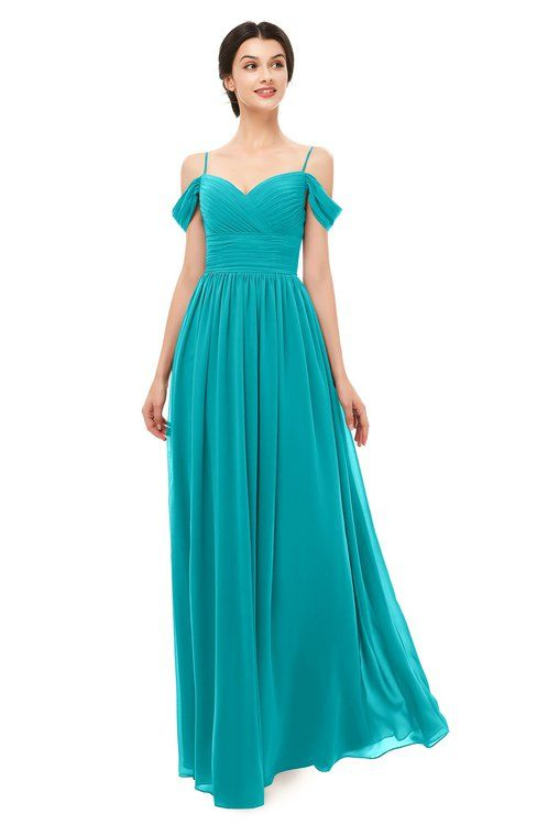 db51333a34df ColsBM Angel Teal Bridesmaid Dresses Short Sleeve Elegant A-line Ruching  Floor Length Backless
