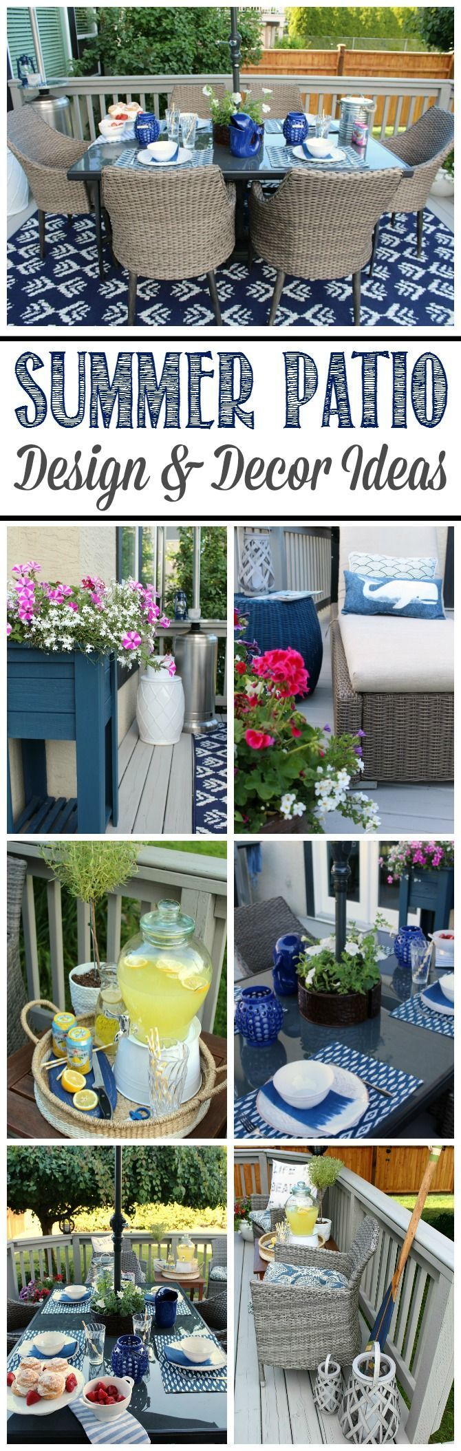 Get inspired to create your own backyard patio or outdoor retreat with these simple summer patio ideas.
