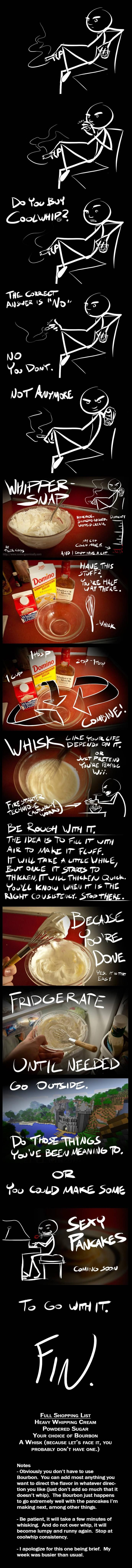 Bourbon whipped cream