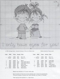 I only have eyes for you cross stitch pattern