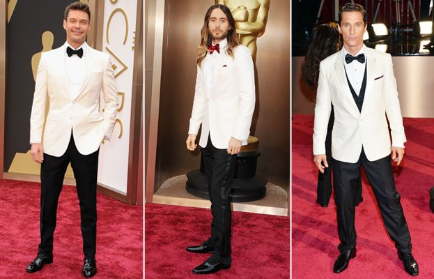 Men in White: The Bold New Trend On the Oscars Red Carpet #InStyle