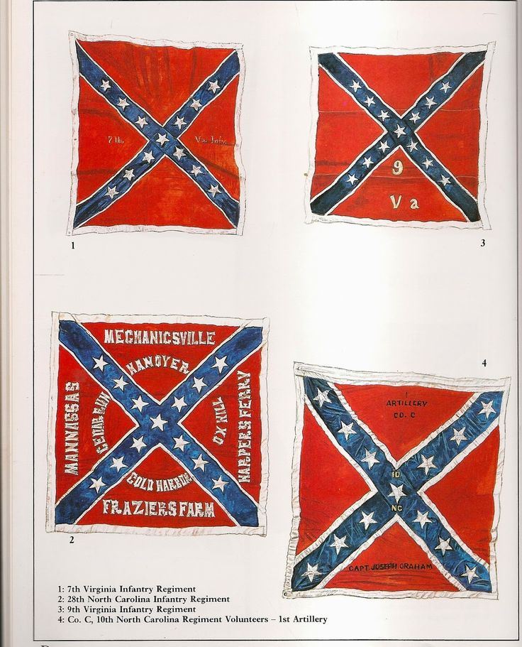 Confederate battle flags, by Rick Scollins.