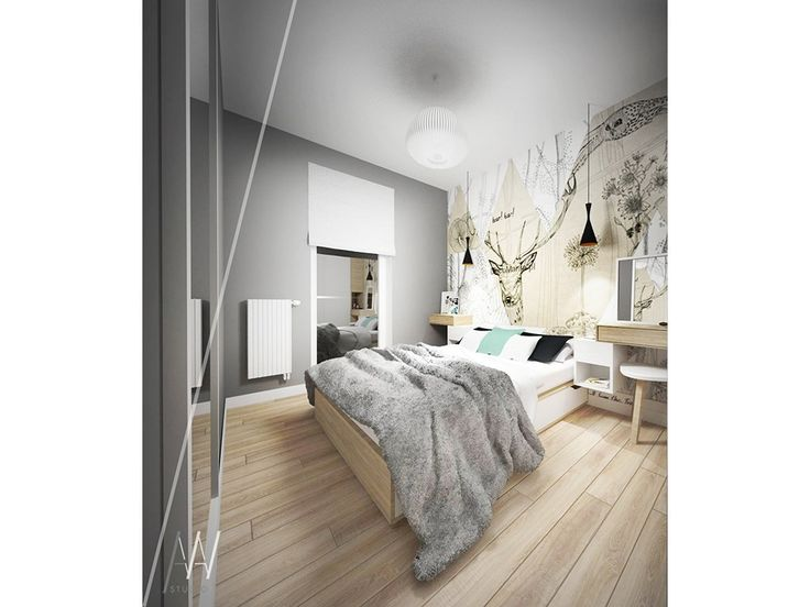 Sypialnia styl Skandynawski - zdjęcie od AAWstudio - Sypialnia - Styl Skandynawski - AAWstudio