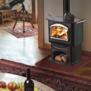 Wood Gourmet™ 1150P Lots of reliable heat  Comfortable heat with the added benefit of a reliable cook top surface.