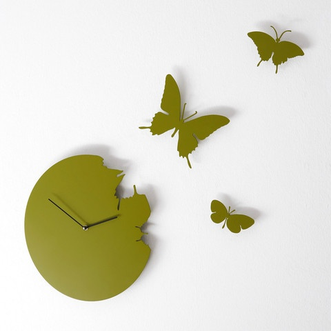 "Butterfly, green by Diamantini & Domeniconi. ""I give new meaning to the saying, time flies! My butterflies lead a wave of spring all year round to remind you that life is about movement and new beginnings, no matter what the season!"""