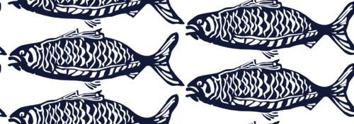 School O Fish - eclectic - upholstery fabric - dc metro - Victoria Larson Textiles