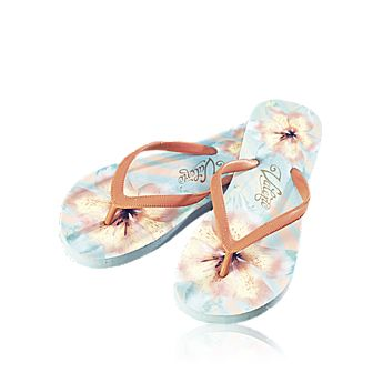 Exotic Flower Flip Flops size 38/39 - Pretty and practical floral-printed EVA foam flip-flops exclusively designed by Valerie.