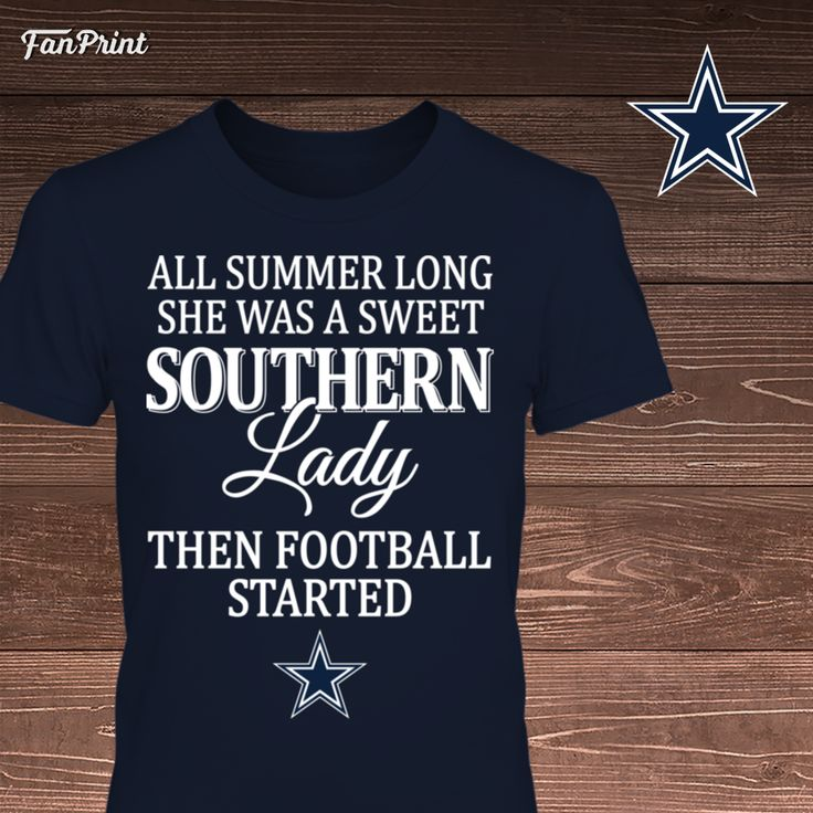 Check out these Dallas Cowboys Limited Edition shirts and other apparel! Click on the image. Have fun! :) - All Summer Long She Was A Sweet Southern Lady Then Football Started - Dallas Cowboys https://www.fanprint.com/sweet-southern-lady-all-summer-long-u https://www.fanprint.com/stores/sons-of-anarchy?ref=5750