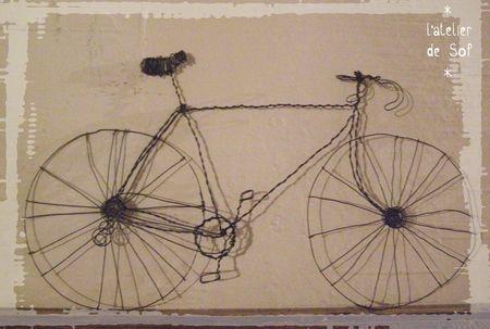 vélo de course fil de fer