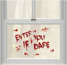 Enter If You Dare Bloody Cling Decals 13ct