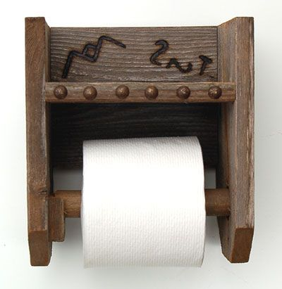 Western Brands Toilet Paper Holder, But i would want to put our own brands on there
