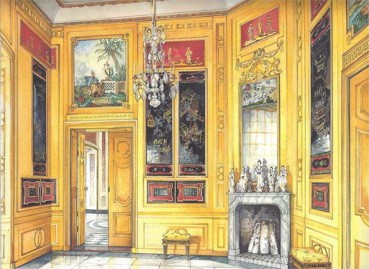 Extraordinary Watercolors By James Steinmeyer The Chinese Pavilion At Drottingholm Sweden Interior PaintingArt InteriorsDesign HistoryThe