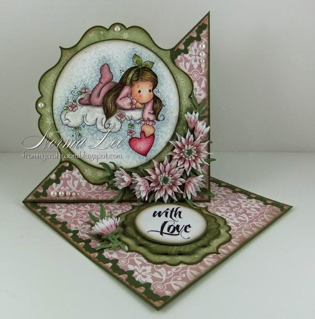 From My Craft Room: With Love - GDT Card For Crealies