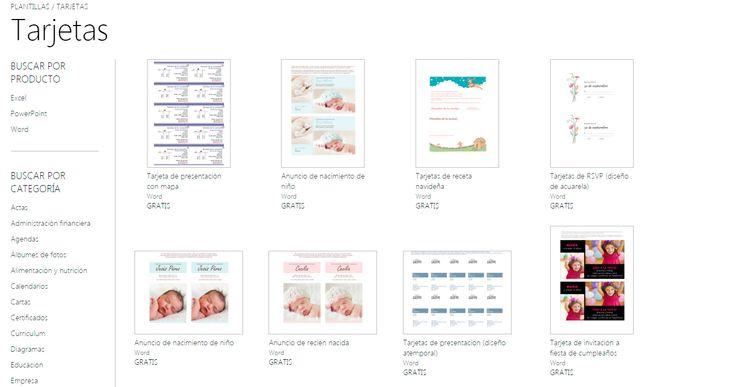 Plantillas tarjetas de presentación Word online