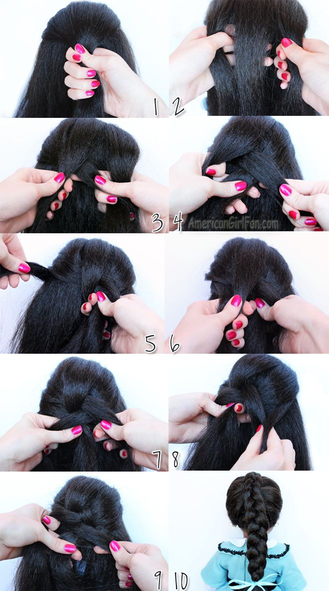 How To Do A Dutch Braid American Girl Doll Hairstyle