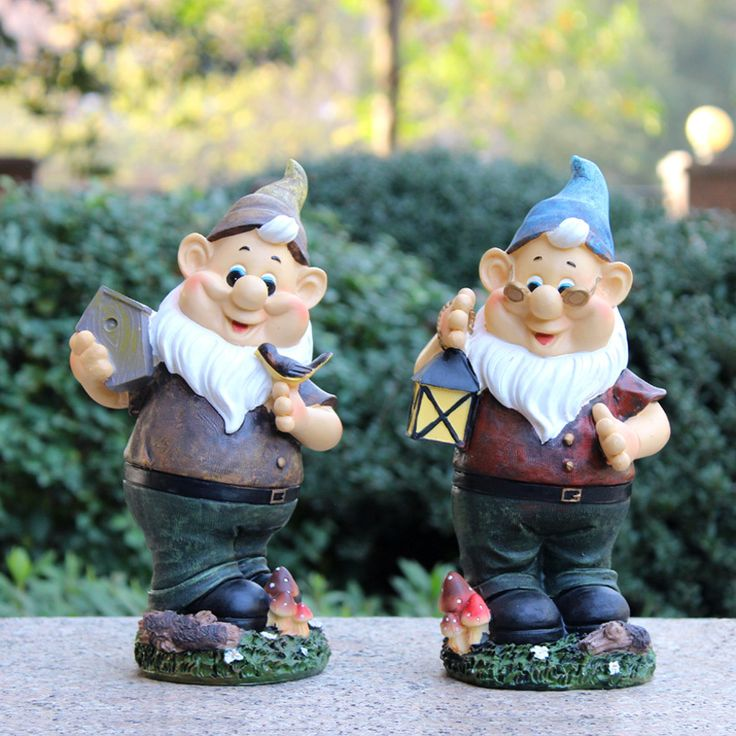handmade vintage free resin garden gnomes for sale poly resin figurines garden decorations #Affiliate