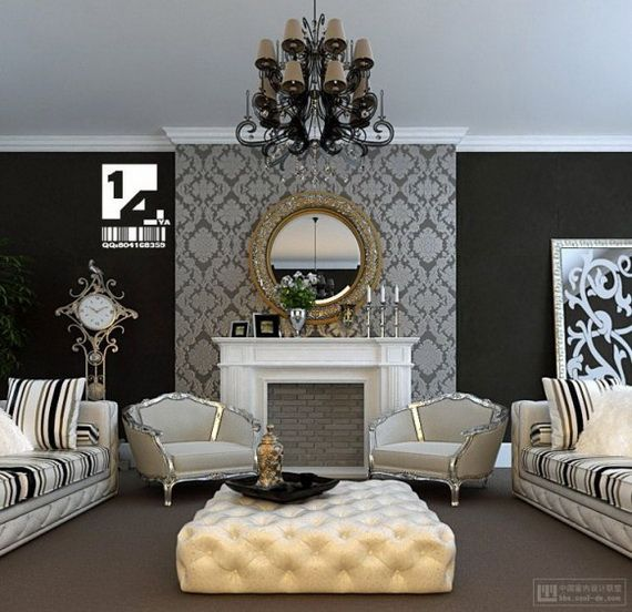 baroque living room champagne taste on a beer budget Neoclassical Interior Design Steampunk Interior Design