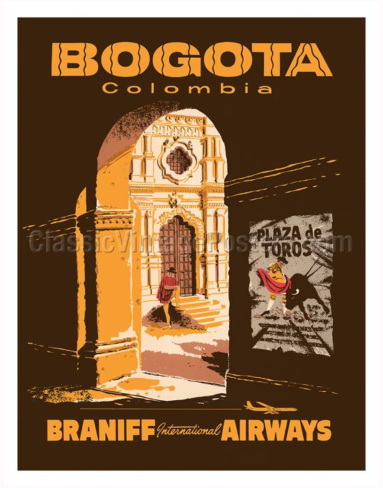 Vintage Airline Travel Posters from Latin America & Caribbean ...