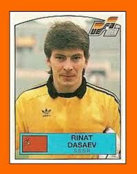 USSR goalkeeper Rinat Dasaev. 1988 European Championship card.