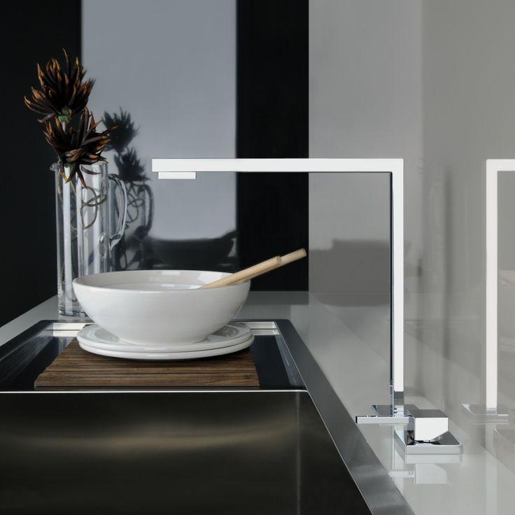 #Gessi minimo ultra-slim geometric kitchen tap. http://www.sinks-taps.com/item-10168-MINIMO_2_Hole_Mixer_Tap.aspx