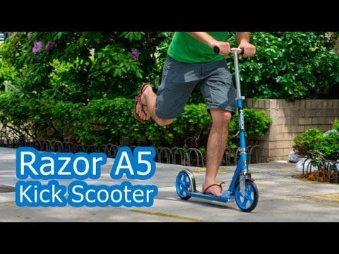 Razor A5 Kick Scooter Video Review. Check out the product page at the link: http://www.nycewheels.com/razor-a5-scooter.html  -Jack