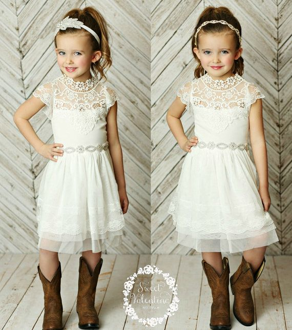 Stunning Flower girls dressrustic flower girl by SweetValentina