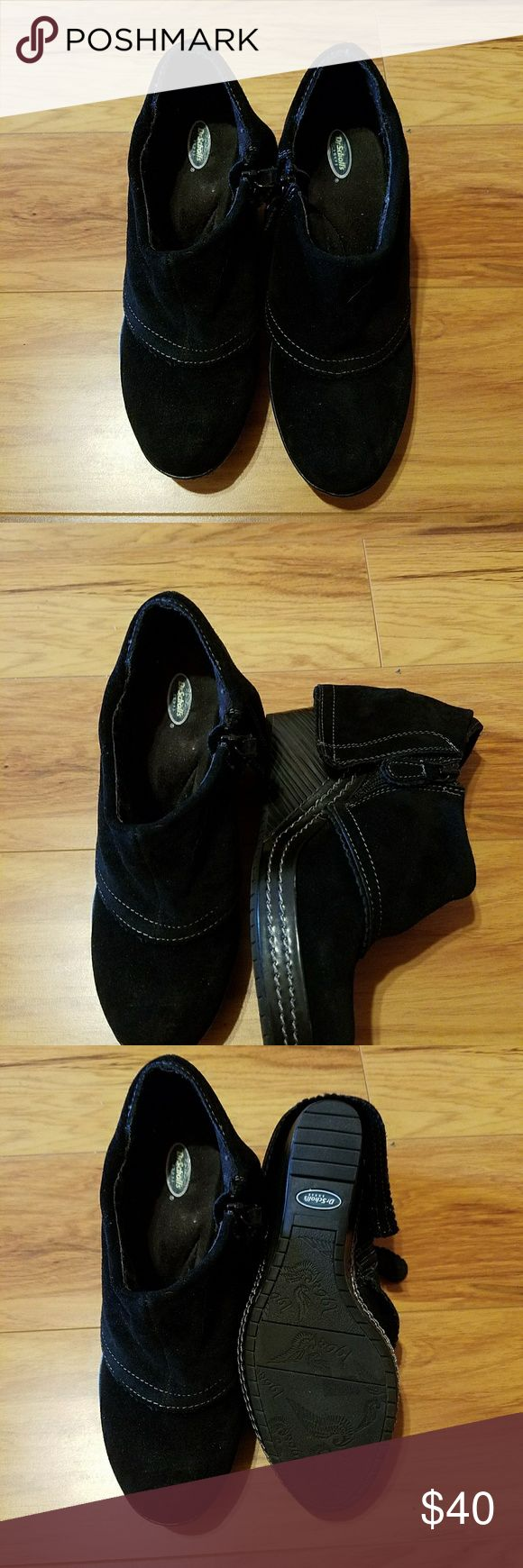 Women dr. Scholls black wedge shoes Worn very little.  Like new black with wedge hill Dr. Scholl's Shoes Ankle Boots & Booties