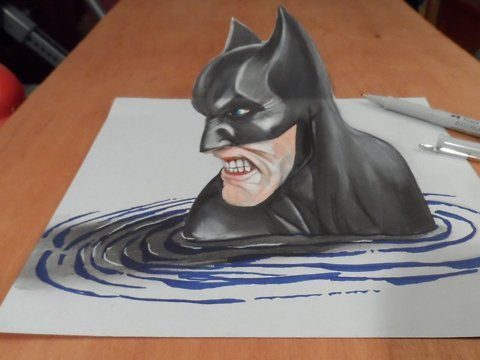 "How to Draw a 3D Batman. Trick art on paper.<br />How to draw a realistic Batman. Mixed media.<br />Materials used: <br />Pastell paper: light gray.  <br />H graphit pencil (Derwent) <br />Grey markers: Letraset PROMARKER cool grey <br />Prismacolor colored pencils.<br />Black and white charcoal pencil.<br />Soft eraser.<br />Music: Drop and Roll - Silent Partner<br />For sale: <a href=""http://vamosart.deviantart.com/gallery/"" target=""_blank""…"