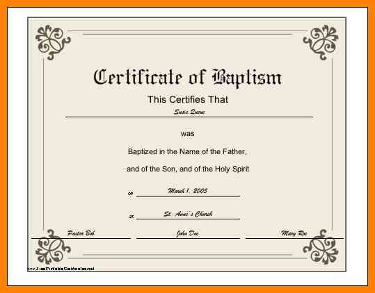 6 baptismal certificate template  credit letter sample