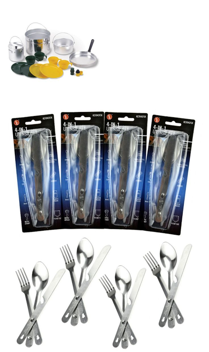 Camping Cooking Utensils 87133: Camping Cooking Set W Pots Pans Plates Cups Knives Spoons Forks 32 Pieces -> BUY IT NOW ONLY: $129.99 on eBay!