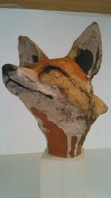 Amaxing fox head sculpture at Hatfield Art in Clay 2014
