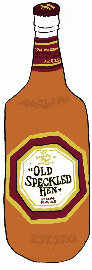 "https://flic.kr/p/5PF6qN | Old Speckled Hen | ""Old Speckled Hen"" is a popular bitter, available both as a cask ale and pasteurised in bottles. First brewed in 1979 by Morland Brewery in Abingdon, Oxfordshire to celebrate the 50th anniversary of the MG car company setting up in Abingdon, and named after the brewery's own MG car - the paint splattered Owld' Speckled 'Un. Brewed since 1999 by Greene King. Greene King has retained the strain of yeast first used in 1896."