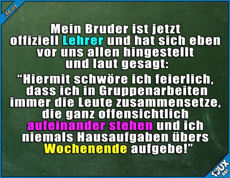 Der wird ein guter Lehrer! #Lehrer #Schule #Schulzeit #Kindheit #Sprüche #lustigeBilder #Humor #Jodel #Statussprüche