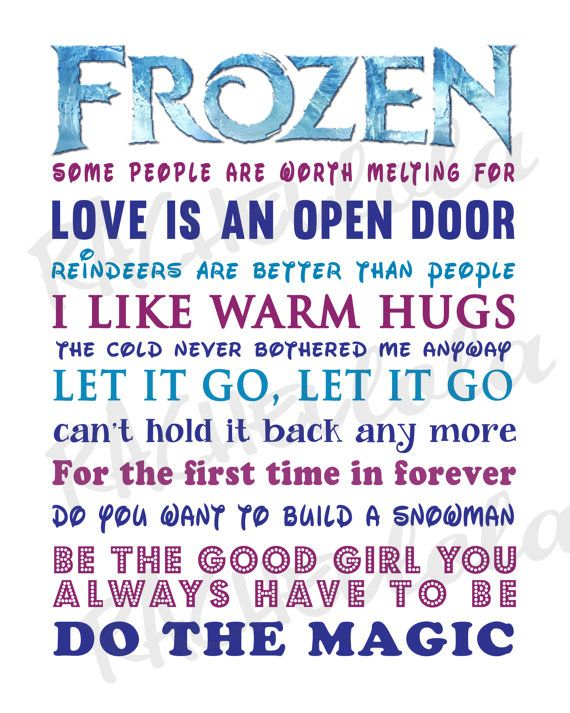 INSTANT DOWNLOADFrozen Sign 8x10 inches Subway Art by Rachellola