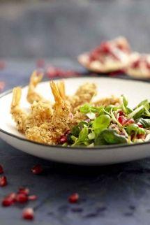 Sesame Prawn Salad with Miso Dressing