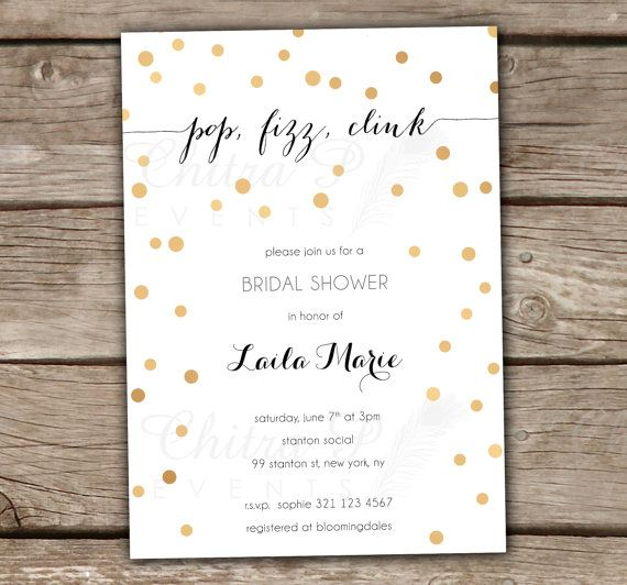 Black & Gold Bridal Shower Invitation  Engagement by chitrap, $20.00