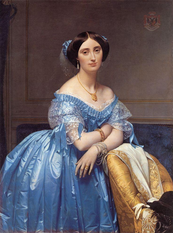 Joséphine-Éléonore-Marie-Pauline de Galard de Brassac de Béarn (1825-1860), princesse de Broglie, par Jean Dominique Ingres, 1853