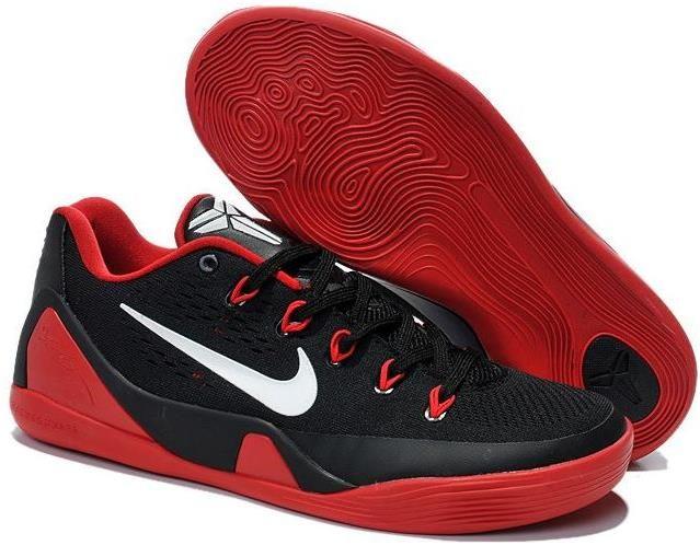 Nike Zoom Kobe 9 Shoes Red Black White
