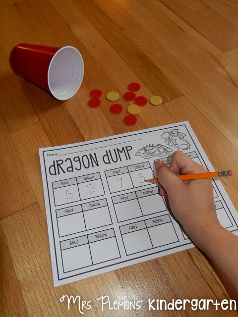 "Build Kindergarten Number Sense with these 20 differentiated centers! Students practice one to one correspondence and number writing with ""Dragon Dump."""