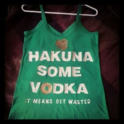 My DIY St. Patrick's  Day shirt. Super easy and cheap.
