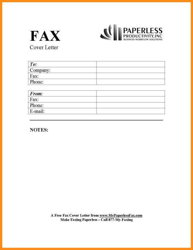 26+ Fax Cover Letter Template Cover Letter Tips Cover letter