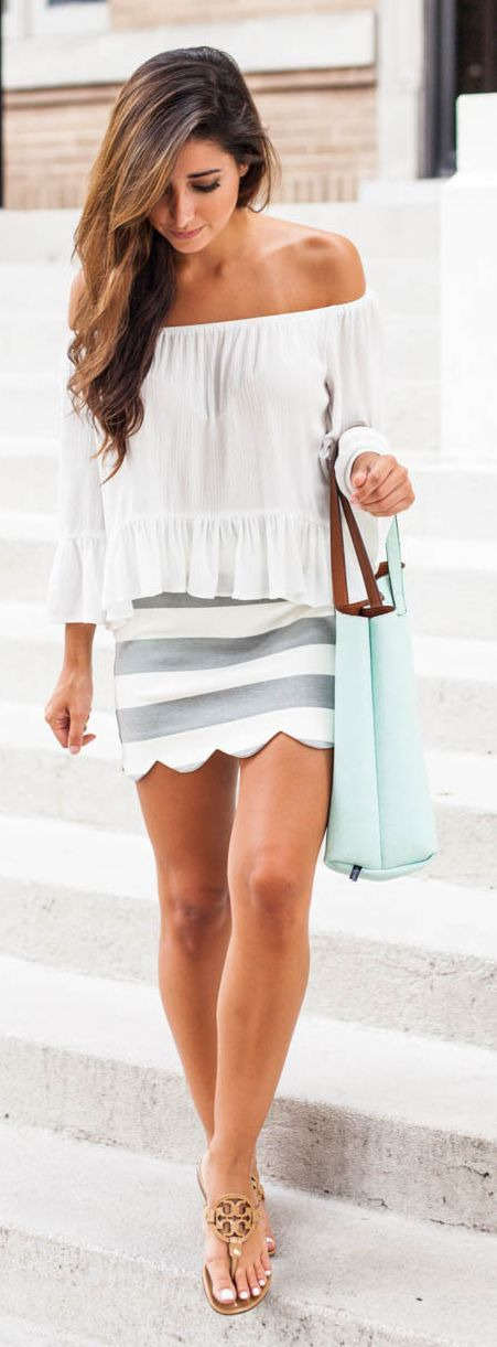 Scalloped Mini Skirt Styling by The Darling Detail wonderful, i'm keen on this…