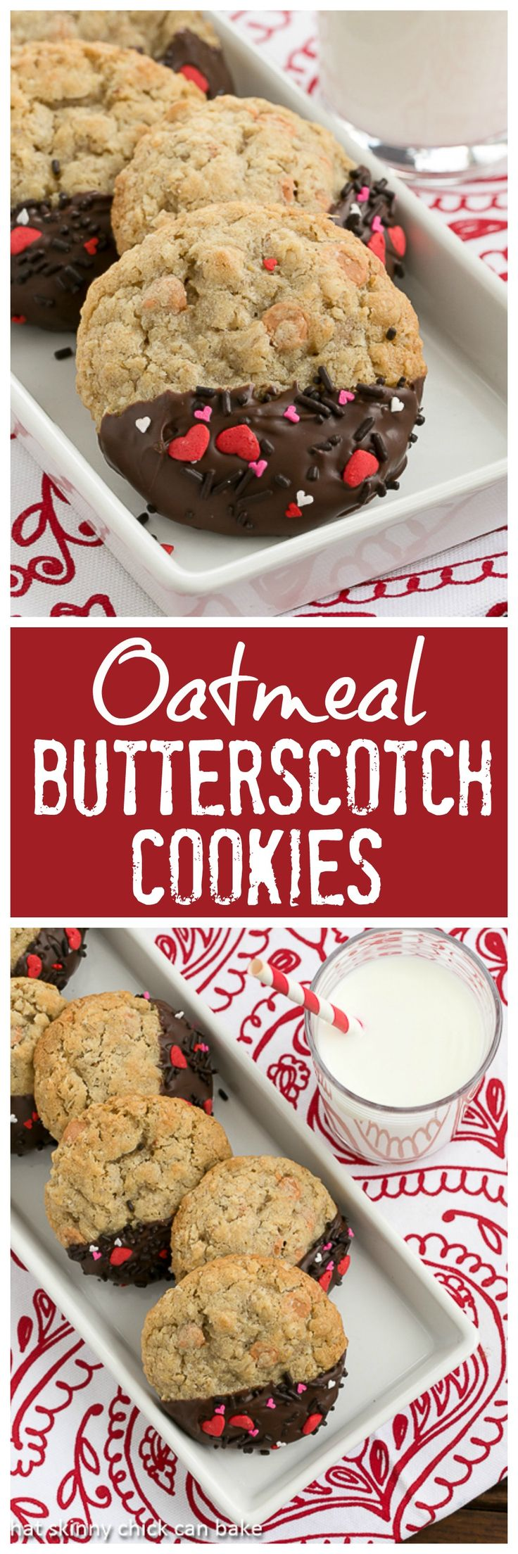 Big Dipper Oatmeal Butterscotch Cookies | Chewy Oatmeal Cookies Chock Full of Butterscotch Morsels @lizzydo