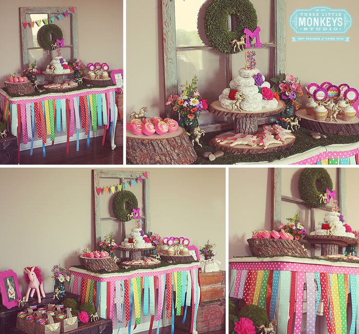 Rainbows And Unicorns Party Planning Ideas Supplies Idea: Rainbow