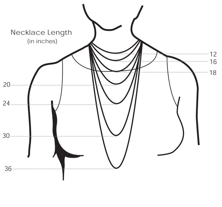 25+ best ideas about Necklace Length Chart on Pinterest | Necklace ...