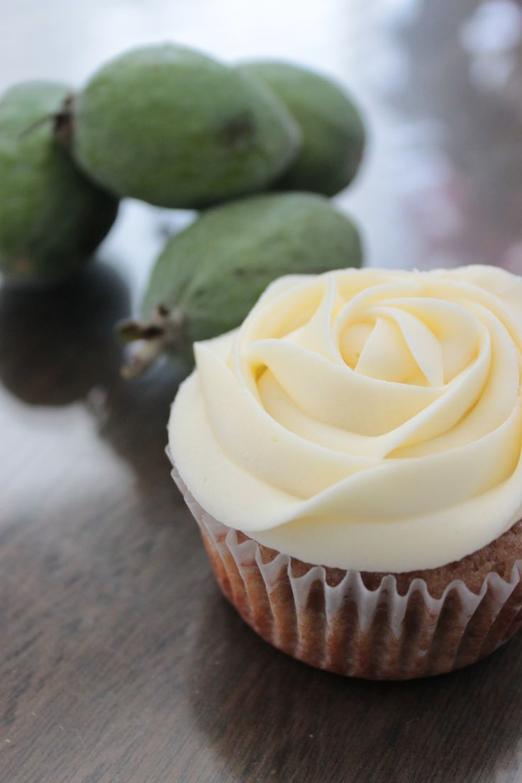 Its that time of year again!Feijoa Cupcakes with Cream Cheese Frosting