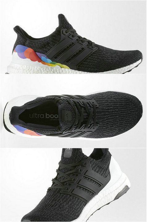 Chaussures De Course 2017 Adidas Pride Collection 2017 JUNE 1ST Ultra Boost 3.0 Pride Core noir/Black Grey Rainbow